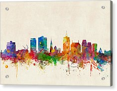 Christchurch New Zealand Skyline Acrylic Print