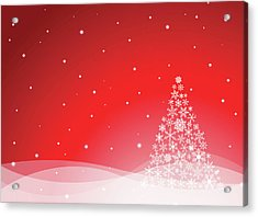 Christmas Background Acrylic Print by Traffic analyzer