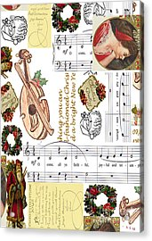 Christmas Collage Acrylic Print