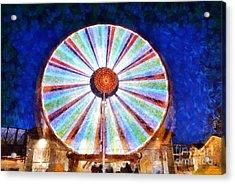 Christmas Ferris Wheel Acrylic Print