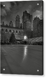 Christmas In Bryant Park Acrylic Print by Mike Horvath