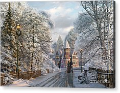 Christmas Invitation Acrylic Print by Dominic Davison