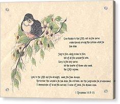 1 Chronicles 16 Acrylic Print