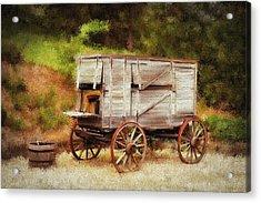 Chuck Wagon Acrylic Print by Mary Timman