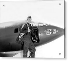 Chuck Yeager And Bell X-1 Acrylic Print by Underwood Archives
