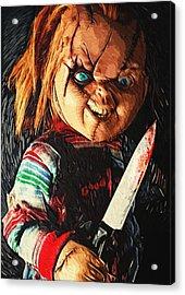 Chucky Acrylic Print by Taylan Apukovska