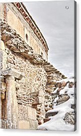 Church Detail Acrylic Print by Gabriela Insuratelu