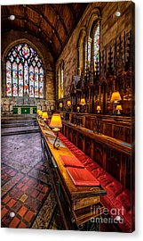 Church Lamps Acrylic Print by Adrian Evans