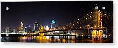 Cincinnati Ohio  Skyline Acrylic Print by Twenty Two North Photography