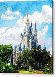 Cinderella Castle Acrylic Print by Sandy MacGowan