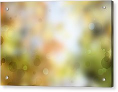 Circles Background Acrylic Print by Les Cunliffe