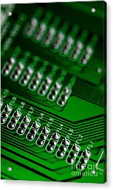 Circuit Board Bokeh Acrylic Print by Amy Cicconi