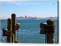 City By The Bay Acrylic Print by Bernard  Barcos