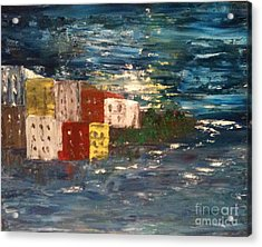 City By The Sea Acrylic Print