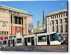 City Centre Tram Acrylic Print by Andrew Wheeler