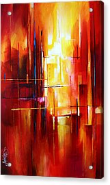 'city Of Fire' Acrylic Print by Michael Lang
