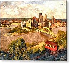 City Of Pittsburgh Acrylic Print by Charles Ott