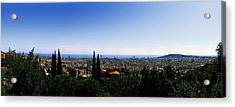 City Viewed From Park Guell, Barcelona Acrylic Print by Panoramic Images