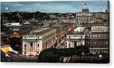 Cityscape In Rome Acrylic Print by Celso Diniz