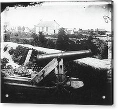 Civil War Cannon, 1862 Acrylic Print by Granger