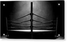 Classic Vintage Boxing Ring Acrylic Print by Allan Swart