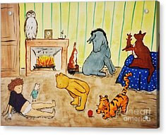 Classic Winnie The Pooh And Friends Acrylic Print