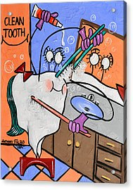 Clean Tooth Acrylic Print