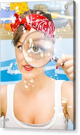 Cleaning Lady Detective Acrylic Print by Jorgo Photography - Wall Art Gallery