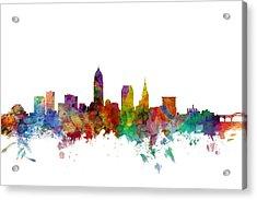 Cleveland Ohio Skyline Acrylic Print