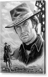 Clint Eastwood American Legend Acrylic Print