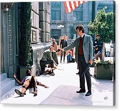 Clint Eastwood In Dirty Harry  Acrylic Print by Silver Screen