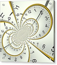 Clockface Spacetime Warp Acrylic Print by David Parker