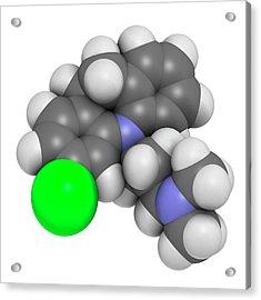 Clomipramine Tricyclic Antidepressant Acrylic Print by Molekuul