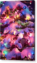 Close Up Of A Multi-colored Christmas Acrylic Print by Kevin Smith