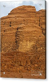 Close Up Of A Rocky Outcrop At Wadi Rum In Jordan Acrylic Print by Robert Preston