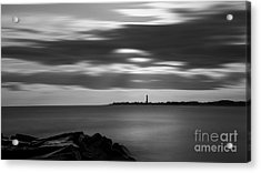 Clouds In Motion Bw Acrylic Print