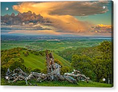 Clouds Over Central Valley At Sunset Acrylic Print by Marc Crumpler