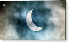 Cloudy Solar Eclipse Acrylic Print