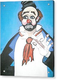 Acrylic Print featuring the painting Clown by Nora Shepley