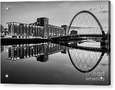 Clyde Arc Squinty Bridge Acrylic Print by John Farnan