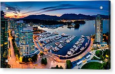 Coal Harbour In Vancouver Acrylic Print by Alexis Birkill