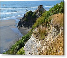 Acrylic Print featuring the photograph Coastal Strata by Gayle Swigart