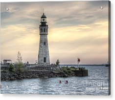 Coastguard Lighthouse Acrylic Print by Darleen Stry