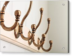 Coat Hooks Acrylic Print by Tom Gowanlock