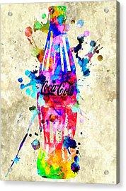 Coca-cola Acrylic Print by Daniel Janda