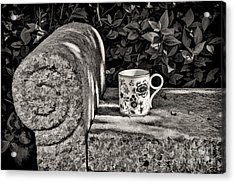 Coffee In Garden Acrylic Print