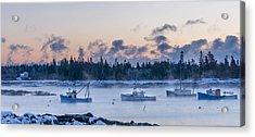 Cold Day In Maine  Acrylic Print