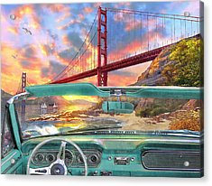 Colden Gate From A Car Acrylic Print by Dominic Davison