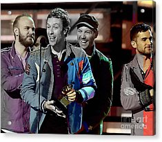 Coldplay Acrylic Print by Marvin Blaine
