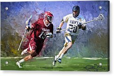 Colgate Lacrosse Acrylic Print by Scott Melby